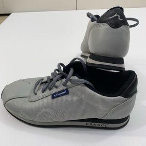 kangol 8 Mens tie up shoes gray black